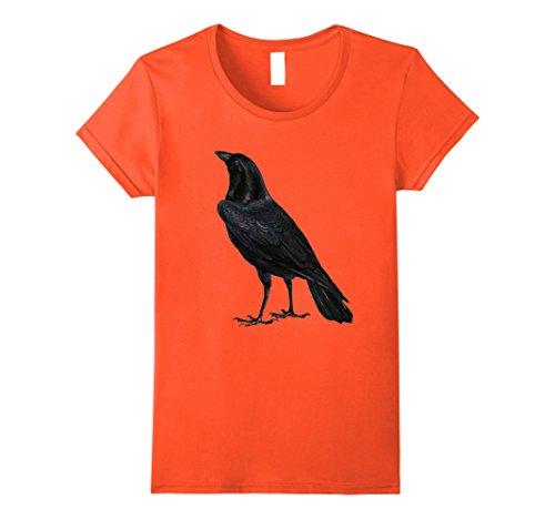 Womens Halloween Shirt Raven Black Bird Halloween Costume Idea Medium (Orange Costumes Ideas)