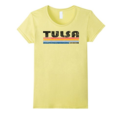 Womens Vintage 1980s Style Tulsa Oklahoma T Shirt Medium (80s Styles For Women)