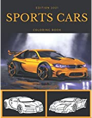 sports cars coloring book: collection of 46 amazing and latest supercars , dream cars exotic , luxury cars coloring book for all ages for adults to relax , kids age 4-8 and toddlers ,5 years old ,age 6-8 and 8-12 children giftboys men girls women .