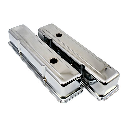 - Assault Racing Products A9215 Small Block Chevy Chrome Tall Steel Valve Covers SBC 283 305 327 350 400