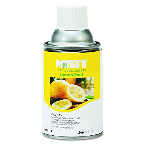 Aerosol Deodorizer (Misty 1001744 Metered Dry Deodorizer Refills, Lemon Peel, 7oz, Aerosol (Case of 12))
