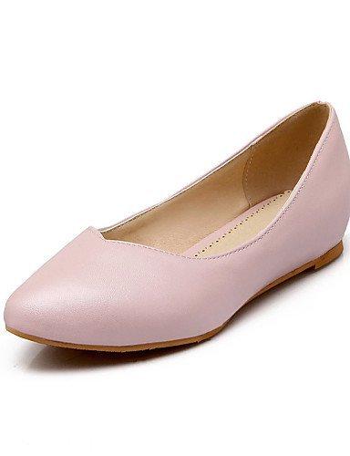 A punta Donna Casual Blu Piatto Scarpe Rosa White ShangYi Bianco pelle Finta Ballerine xwAIXtq