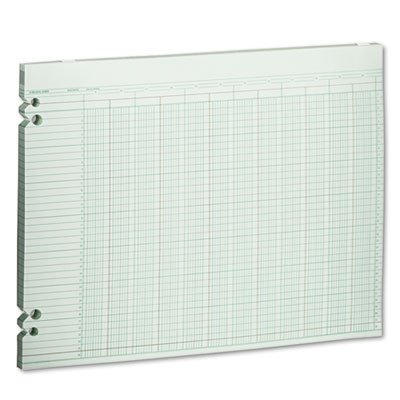 Accounting Sheets, 20 Columns, 11 x 14, 100 Loose Sheets/Pack, Green, Sold as 100 Sheet