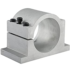 2.2KW Air Cooled CNC Spindle Motor ER20+ 2.2KW 220V Inverter VFD 3HP + 80mm Clamp Mount for CNC Router Engraving Milling Machine