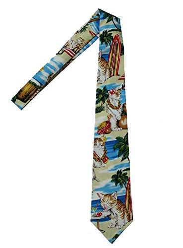 Hawaii Neckties, Beach Cats With Surfboards (Tie Hawaii)