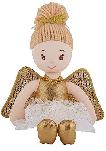 - Stephan Baby Gold Guardian Angel Plush Doll Nursery Ornament Keepsake