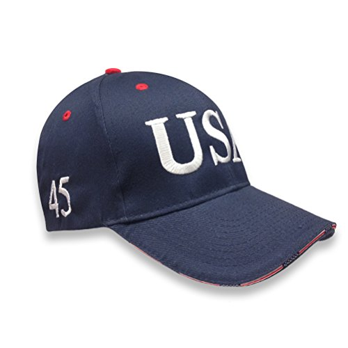 RED/Navy Cap USA Trump 45 President Hat Embroidery Inauguration