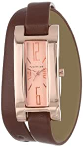 Vernier Women's VNR11105RG Rose Tone Double Wrap Strap Watch