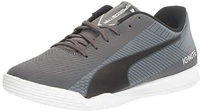 PUMA Men's Evospeed Star S Ignite Soccer Shoe, Asphalt-Puma Black-Quiet Shade-Puma White, 12 M US