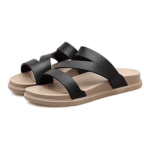 Mode Noir 36 Couleur Air Plein Pantoufles en Sandales Femelle D'été Plage Dames Taille HUYP Slip Chambre Sandales Anti Porter Et Word Blanc pgq1X