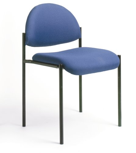 Boss Office Products B9505-BE Dimond Fabric Stacking Chair in Blue