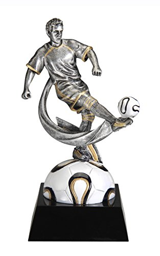 [Male Soccer Motion X Resin Trophy Award (Futbol)] (Resin Football Trophies)