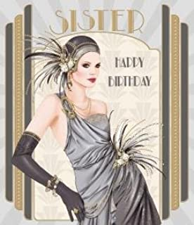 Art Deco ~ For A Beautiful Granddaughter Happy Birthday Greetings Card