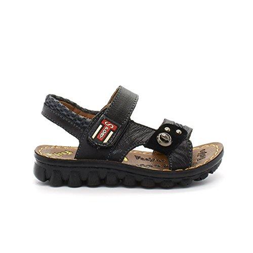 London Schuhwerk Caden, Unisex-Kinder Knöchelriemchen Sandalen Schwarz