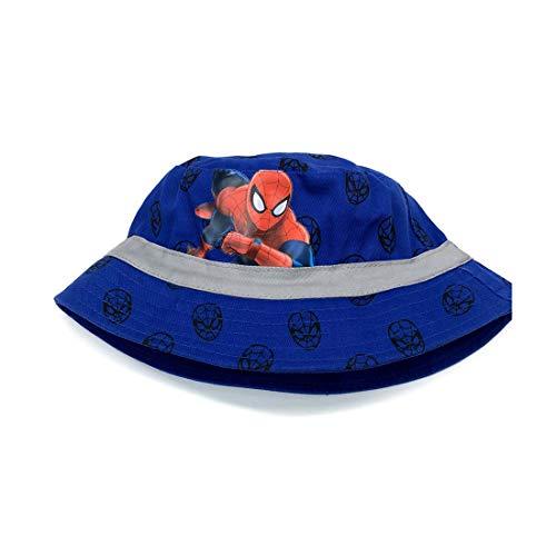 Spider-Man Child Hat Fisherman hat Shade Outdoor 52cm (Blue) ()