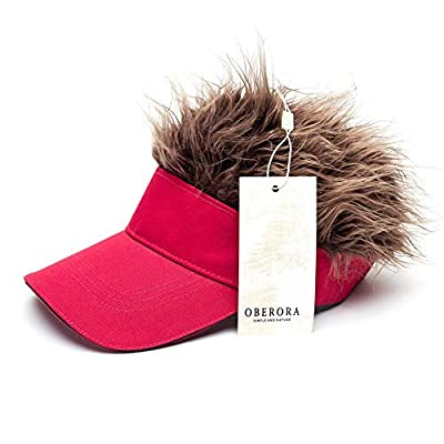 Oberora Novelty Sun Cap Wig Peaked Adjustable Baseball Hat with Spiked Hairs