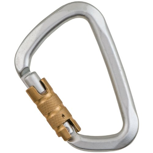Liberty Mountain Hard Steel D Key 3 Stage Auto Lock Carabiner (Large) by Liberty Mountain