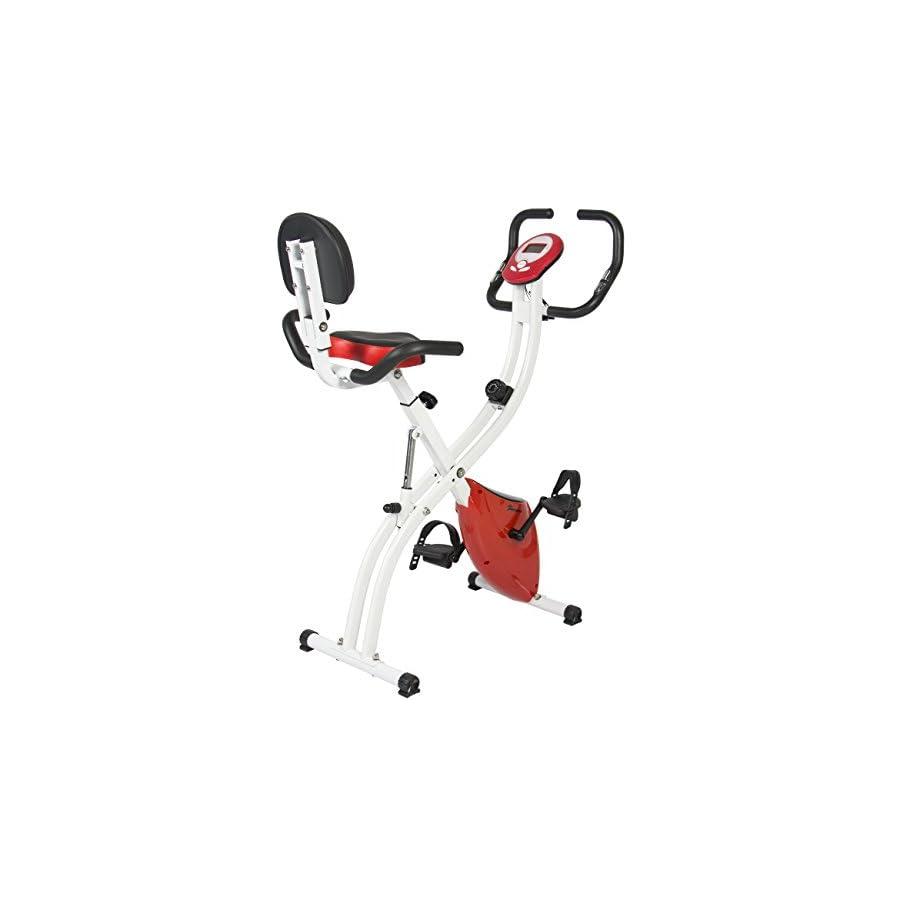 Best Choice Products Folding Adjustable Magnetic Upright Exercise Bike Fitness Upgraded Machine