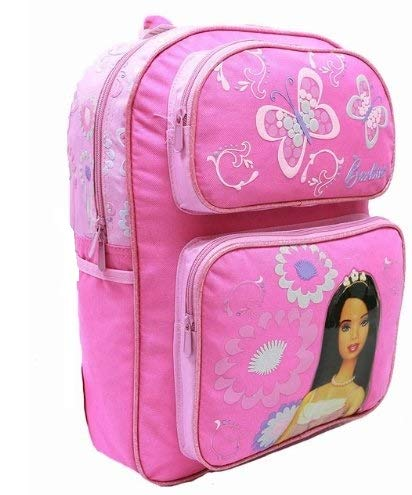 (Backpack - Barbie - Large Backpack with Water Bottle - Pink 2)