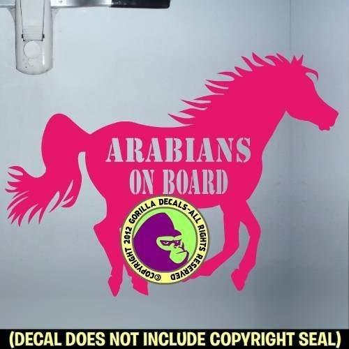 ARABIANS ON BOARD Trailer Vinyl Decal Sticker B