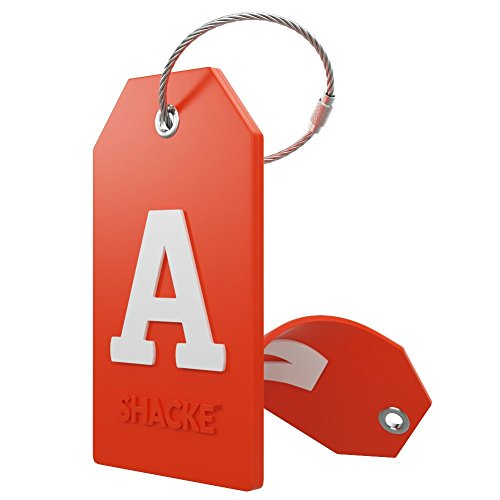 Initial Luggage Tag with Full Privacy Cover and Stainless Steel Loop – (Letter A)