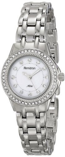 Armitron Women's 75/5194MPSV Swarovski Crystal Accented Silver-Tone Bracelet Watch