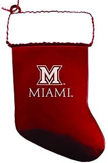 miami university chirstmas holiday stocking ornament red