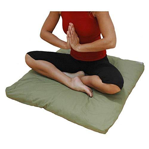 Traditionelle Zabuton Meditation Mat - Grün - Handgefertigt