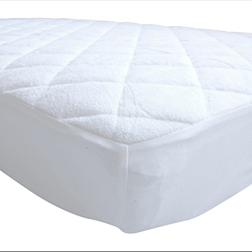 Pack N Play Crib Mattress Pad Cover Fits Pack and Play or Mini Portable Crib and Playard Mattresses (N/a Mattress Pads)