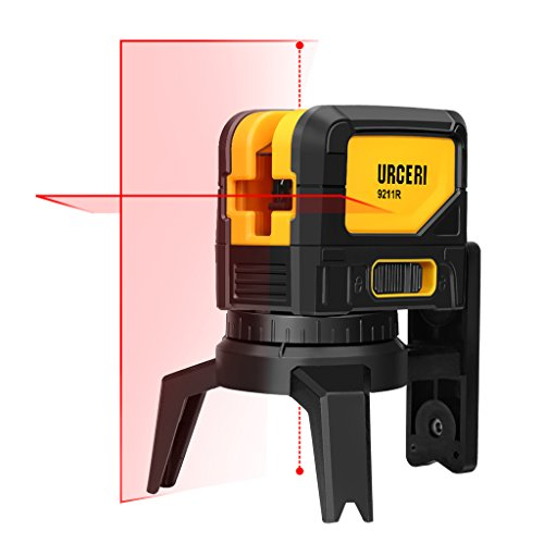 (URCERI Laser Level 65 Feet Self-Leveling Horizontal, Vertical Cross-Line and Plumb Dot - Laser Magnetic Mount Base and Carry Pouch, Battery Included)