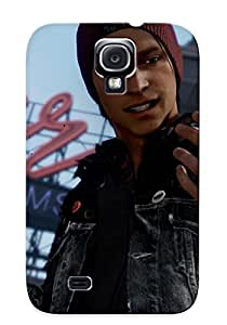 Rugged Skin Case Cover For Galaxy S4- Eco-friendly Packaging(delsin Rowe Infamous Second Son)