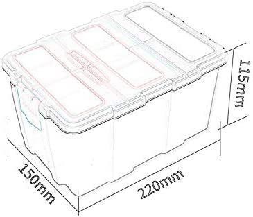 FeiGuo FQ Toolbox, professional ABS plastic transparent cover tool box waterproof wear-resistant metal storage box modular parts screw box