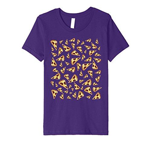Kids Pizza Tshirt National Pizza Day November 12 Raining Pizza 4 Purple