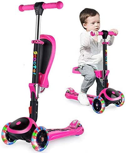"""Adjustable Height Perfect For Kids Aged 7+ Foldable Design 2/"""" Heavy Duty LED Wheels 3StyleScooters/® RGS-3 Big Kids 3 Wheel Kick Scooter"""