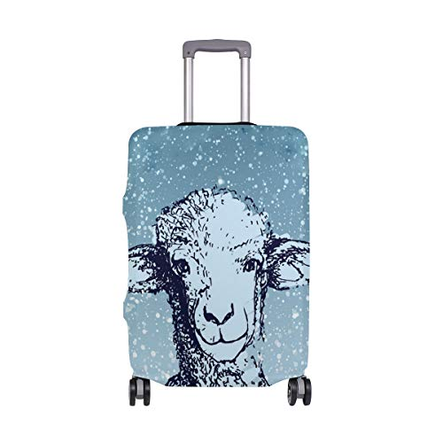 Wolf In Sheeps Clothing Traveler Lightweight Rotating Luggage Cover Can Carry With You Can Expand Travel Bag Trolley Rolling Luggage Cover ()