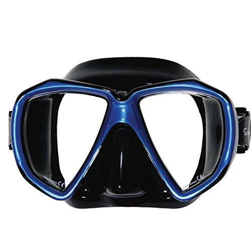 Scuba Max Spider Eye Medium/Large Fit Mask (Black / Blue)