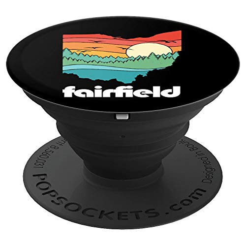 Fairfield Ohio Outdoors Vintage Nature Retro Graphic PopSockets Grip and Stand for Phones and Tablets]()