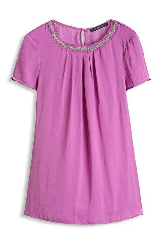 ESPRIT Collection Women mit dezentem Faltenwurf - Blusa para mujer Rosa (VIOLA PINK 694)