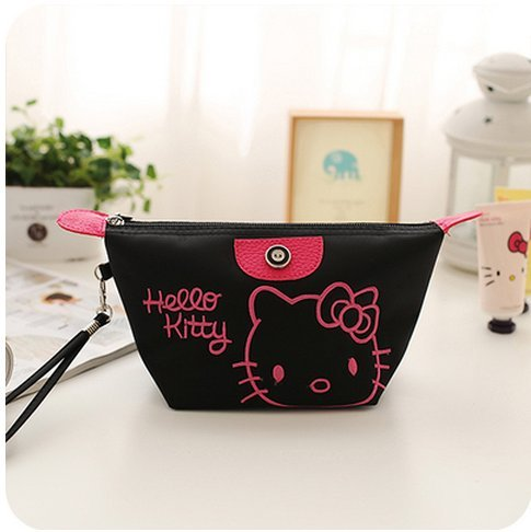 (CJB Lovey Sanrio Japan Hello Kitty Cosmetics Coin Bag Pocket Black (US Seller))