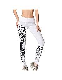 Ai.Moichien Women Sports Gym Yoga Workout Running Pants Fitness Elastic Leggings
