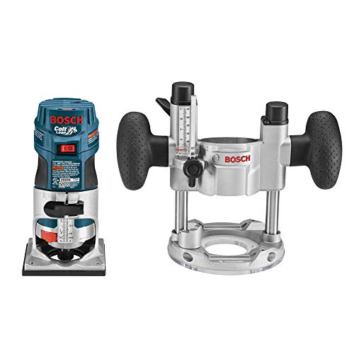 (Bosch PR20EVSPK 5.6-Amp  Colt Palm Grip 1-Horsepower Fixed  and Plunge Base Variable-Speed Router Combo Kit)