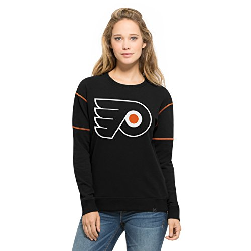 Black Nhl Pullover Sweatshirt (NHL Philadelphia Flyers Women's '47 Sport Pullover Sweatshirt, Medium, Jet Black)