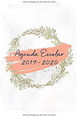 Agenda Escolar 2019-2020: Flores en Acuarela (Spanish ...