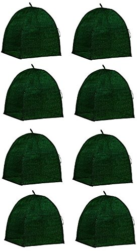 NuVue 20253 36'' x 36'' x 38'' Green Frost Proof Winter Shrub Protector Covers - Quantity 8 by Nuvue