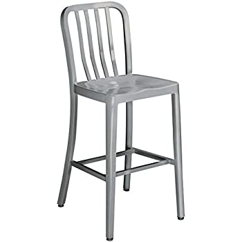 Amazon Com Sandra Bar Stool Swivel Brushed Aluminm