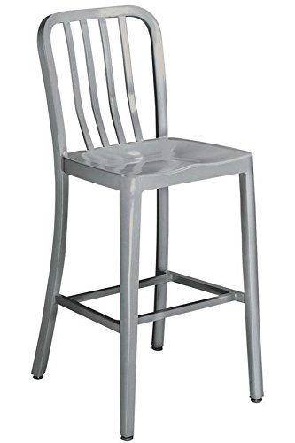 Groovy Home Decorators Collection Sandra Counter Stool Non Swivel Brushed Aluminm Andrewgaddart Wooden Chair Designs For Living Room Andrewgaddartcom