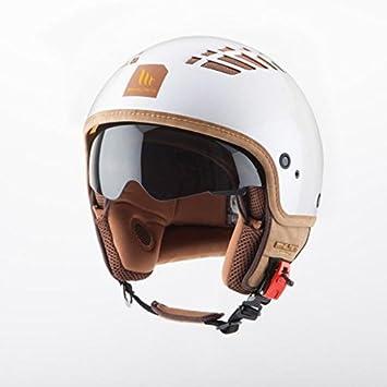 MT - Casco JET MT COSMO Con pantalla solar Blanco Perla Talla M: Amazon.es: Coche y moto