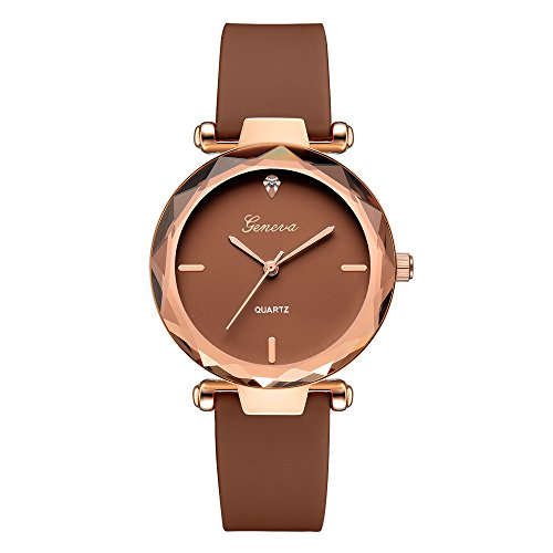 (Muranba 2019 ! Fashion Womens Ladies Watches Geneva Silica Band Analog Quartz Wrist Watch (Brown))