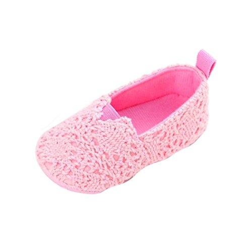 Koly Niño recién nacido de los zapatos de niña suavemente único cuna para niños pequeños, azules (0 ~ 6 meses, Rosa caliente) Rosado