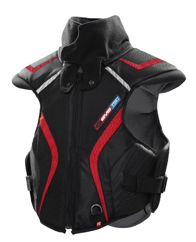 EVS Sports SV1T Trail Model Snowmobile Vest (Black/Red, Medium/Large) by EVS Sports